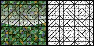 Vector l'illustrazione senza cuciture del fondo del mosaico, mosaico astratto Immagini Stock Libere da Diritti