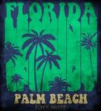 Vector l'illustrazione sul tema di spuma e di praticare il surfing in Florida, Immagini Stock Libere da Diritti