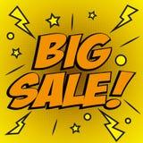 Vector l'illustrazione variopinta di Pop art con la grande promozione di sconto di vendita Modello decorativo con il expl di semi Immagini Stock