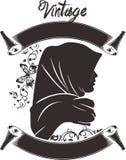 Vector l'immagine astratta di logo di arte dello schizzo di arti d'annata dell'illustrazione moderna illustrazione di stock