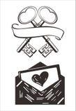 Vector l'immagine astratta di logo di arte dello schizzo di arti d'annata dell'illustrazione moderna royalty illustrazione gratis