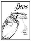 Vector l'immagine di un cocktail con un nome Fotografia Stock Libera da Diritti