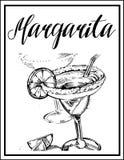 Vector l'immagine di un cocktail con un nome Immagine Stock Libera da Diritti