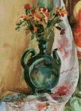 Vector l'immagine di un vaso con il mazzo dei fiori illustrazione vettoriale