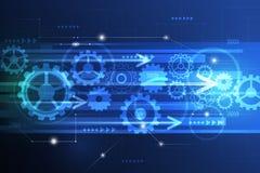 Vector l'ingegneria futuristica astratta della ruota di ingranaggio sul circuito Immagini Stock