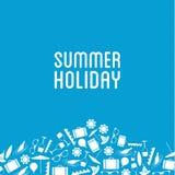 Vector l'insegna di vacanza estiva con il posto per il vostro contenuto Fotografie Stock Libere da Diritti