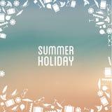 Vector l'insegna di vacanza estiva con il posto per il vostro contenuto Immagini Stock