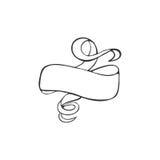 Vector l'insegna disegnata a mano, la struttura di scarabocchio, elemento di web design Fotografia Stock