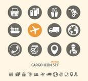 Vector l'insieme di trasporto, di logistica e dell'icona del carico Immagini Stock
