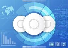 Vector l'interfaccia globale digitale della tecnologia, fondo astratto Immagini Stock Libere da Diritti