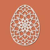 Vector l'uovo di Pasqua di pizzo dello stampino con il modello openwork scolpito Tem illustrazione di stock