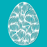 Vector l'uovo di Pasqua di pizzo dello stampino con il profilo ondulato openwork scolpito illustrazione di stock