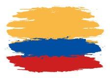 Vector la bandera de Colombia, ejemplo de la bandera de Colombia, imagen de la bandera de Colombia, bandera de Colombia ilustración del vector