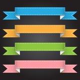 Vector la bandera de la cinta del ejemplo para el diseño y el trabajo creativo Fotos de archivo libres de regalías