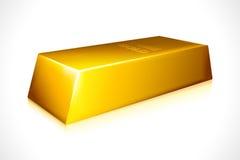 Vector la barra de oro Imágenes de archivo libres de regalías