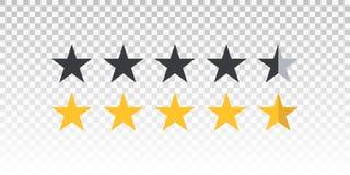 Vector la barra gialla e nera di valutazione della stella isolata su fondo trasparente Elemento per progettazione il vostro sito  Fotografia Stock
