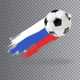 Vector la bola aislada fútbol 3d en fondo transparente Fotos de archivo