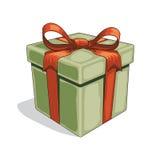 Vector la caja de regalo del vintage de la historieta en el fondo blanco ilustración del vector