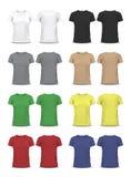 Vector la camiseta, plantilla del diseño, manga de raglán Imagen de archivo