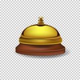 Vector la campana realista de la recepción del oro aislada en fondo transparente libre illustration