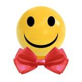 VECTOR la caramella realistica del confetto con il farfallino sorridente di rosso e del fronte Fotografie Stock