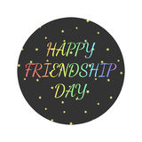 Vector la carta dell'illustrazione con testo colourful per il giorno di amicizia illustrazione vettoriale