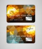 Vector la carta di credito dei modelli con il modello variopinto e astratto Fotografia Stock