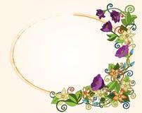 Vector la carta floreale, i retro fiori e le foglie. Royalty Illustrazione gratis