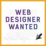 Vector la carta se state cercando il progettista di web Fotografia Stock