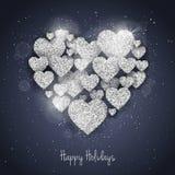 Vector la cartolina d'auguri felice del giorno del ` s del biglietto di S. Valentino Immagine Stock