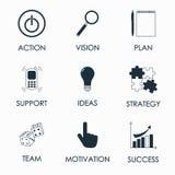 Vector la chiamata dell'illustrazione al concetto di azione con l'icona immagini stock libere da diritti