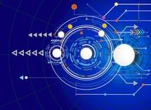 Vector la Ciao-tecnologia dell'illustrazione digitale e le Telecomunicazioni di ingegneria tecniche Immagine Stock