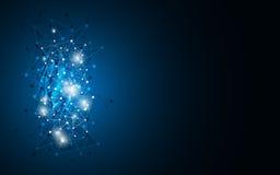 Vector la ciencia abstracta del fondo y el concepto innovador del establecimiento de una red del ordenador de la tecnología