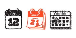 Vector la cita del plan del papel de gráfico de negocio del organizador de la oficina de los iconos del web del calendario y el e Fotografía de archivo libre de regalías