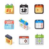 Vector la cita del plan del papel de gráfico de negocio del organizador de la oficina de los iconos del web del calendario y el e Imagen de archivo libre de regalías