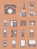 Vector la colección de diversos teléfonos, de la obra clásica retra a la MOD libre illustration