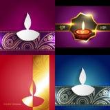 Vector la colección de diversos tipos de fondo del diwali Imagenes de archivo