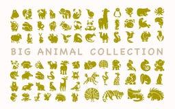 Vector la colección de iconos animales lindos planos aislados en el fondo blanco libre illustration