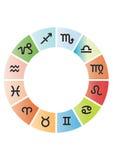 Vector la colección del zodiaco Imagen de archivo