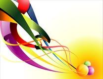 Vector la composición abstracta de la cinta ilustración del vector