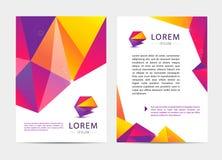 Vector la copertura di stile del documento, della lettera o di logo Fotografia Stock