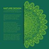 Vector la decorazione della natura per la vostra progettazione con l'ornamento astratto Fotografie Stock