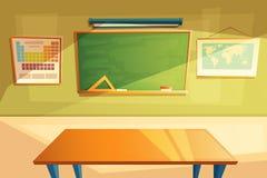 Vector la escuela, interior de la sala de clase de la universidad, entrenando al sitio libre illustration