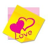 Vector la etiqueta engomada de papel con el corazón Foto de archivo