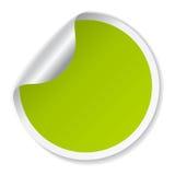 Vector la etiqueta engomada verde stock de ilustración