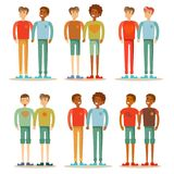 Vector la familia gay feliz de los pares del ejemplo que se une ilustración del vector