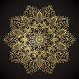 Vector la flor de Lotus ornamental, arte étnico, pai indio modelado ilustración del vector