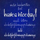 Vector la fonte scritta a mano o semplicemente metta delle lettere minuscole illustrazione vettoriale