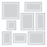 Vector la foto o el marco blanca en diversos proporciones y tamaños libre illustration