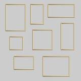 Vector la foto o el marco de oro en diversos proporciones y tamaños ilustración del vector